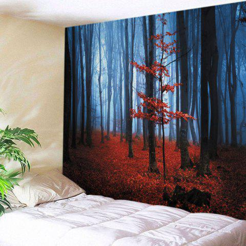 Maple Forest Print Tapestry Wall Hanging Art Decoration - Red - W59 Inch * L51 Inch