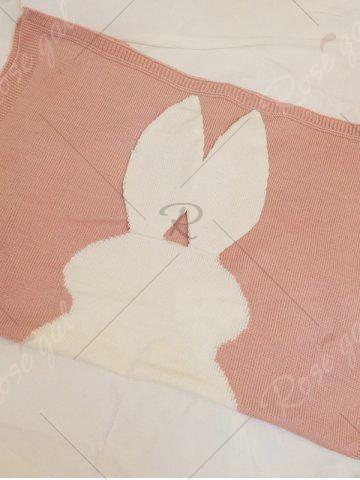 Chic Soft Kids Bunny Knitting Bed Blanket - PINK  Mobile