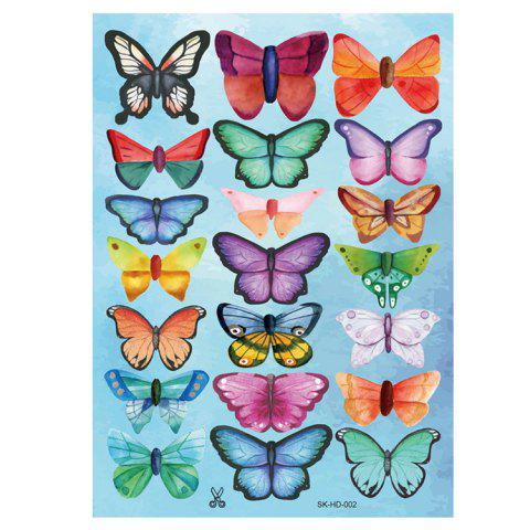 Sale 3D Butterfly DIY Wall Stickers Set Home Decoration - PATTERN B COLORMIX Mobile