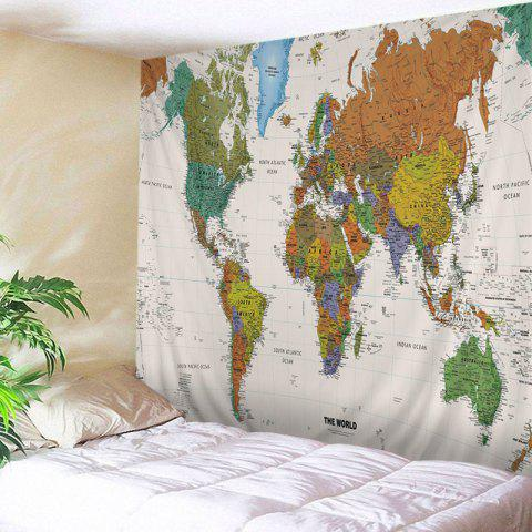 World Map Print Tapestry Wall Hanging Art Decoration - Colormix - W79 Inch * L59 Inch