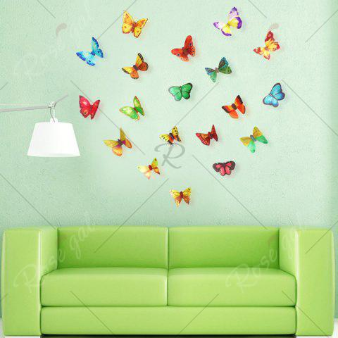 Best 3D Butterfly DIY Wall Stickers Set Home Decoration - PATTERN A COLORMIX Mobile