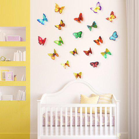 Hot 3D Butterfly DIY Wall Stickers Set Home Decoration - PATTERN A COLORMIX Mobile