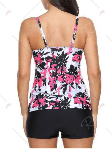 Buy Twist Front Printed Tankini Set - S RED Mobile