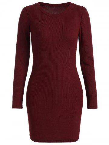 Sale Ribbed Knitted Bodycon Dress