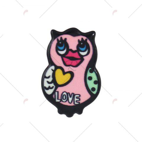 Trendy Funny Duck Owl Lips Brooch Set - COLORMIX  Mobile