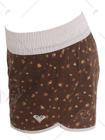 Cheap Printed Dolphin Swim Shorts - S BROWN Mobile