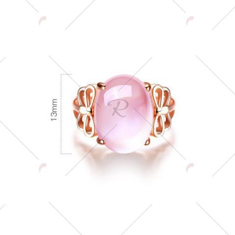 Fancy Faux Crystal Gemstone Dragonfly Oval Ring - ROSE GOLD  Mobile