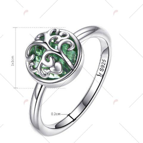 Hot Heart Tree of Life Sterling Silver Ring - 7 SILVER Mobile