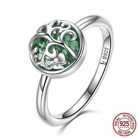 Latest Heart Tree of Life Sterling Silver Ring - 6 SILVER Mobile