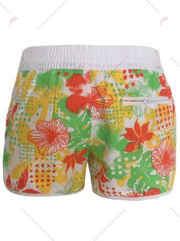 Best Printed Dolphin Swim Shorts - L YELLOW Mobile