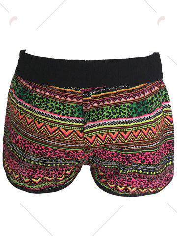 Affordable Printed Dolphin Swim Shorts - XL COLORMIX Mobile