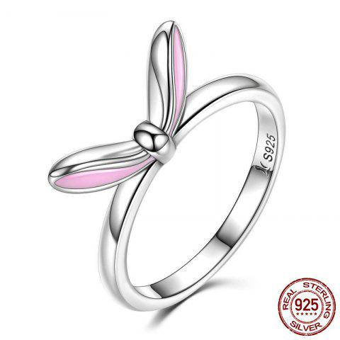 Fashion Rabbit Ear Shape Round Finger Ring - 7 SILVER Mobile