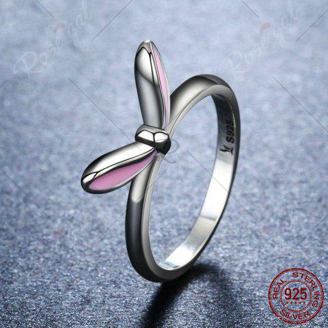 Discount Rabbit Ear Shape Round Finger Ring - 6 SILVER Mobile