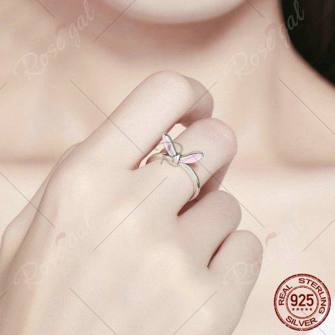 Fashion Rabbit Ear Shape Round Finger Ring - 6 SILVER Mobile