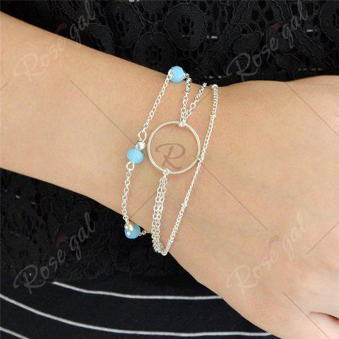 Shops Layered Circle Beads Chain Bracelet - SILVER  Mobile