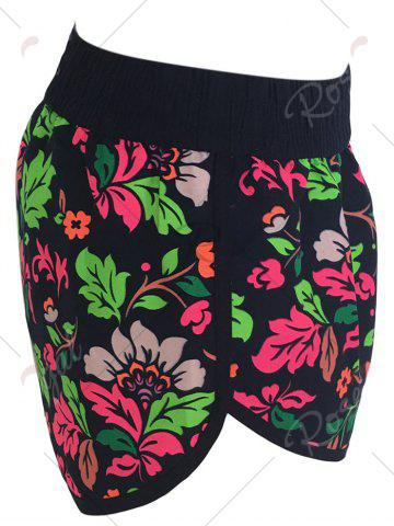 Chic Printed Dolphin Swim Shorts - XL FLORAL Mobile
