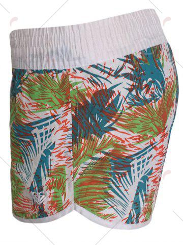 Chic Printed Dolphin Swim Shorts - S LIGHT BLUE Mobile