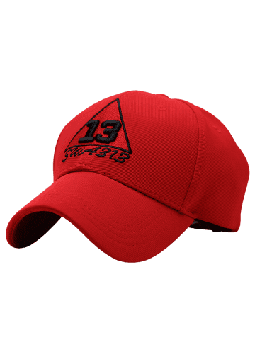 Unique Trangle Numbers Embroidered Baseball Cap - RED  Mobile