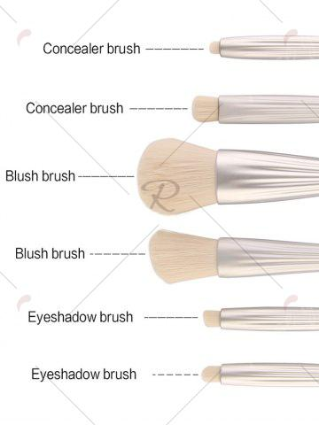 Outfit 6Pcs Shell Design Plating Facial Makeup Brushes Set - SILVER  Mobile