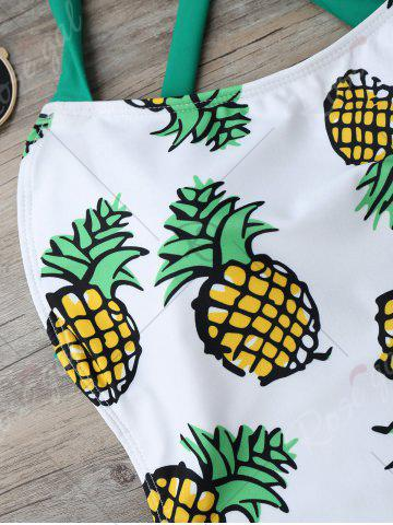 Shop Cross Back Pineapple One Piece Swimsuit - S COLORMIX Mobile