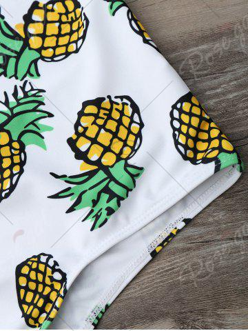 Outfit Cross Back Pineapple One Piece Swimsuit - S COLORMIX Mobile