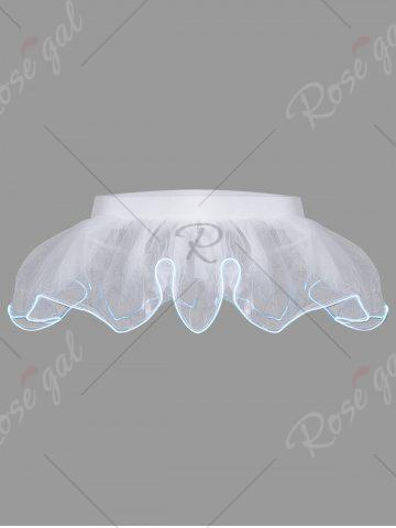 Buy Mesh Tutu Light Up Cosplay Party Skirt - ONE SIZE WHITE Mobile