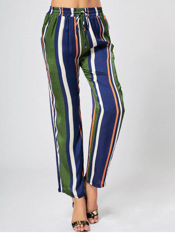Colorful Stripe Pants - Green - Xl