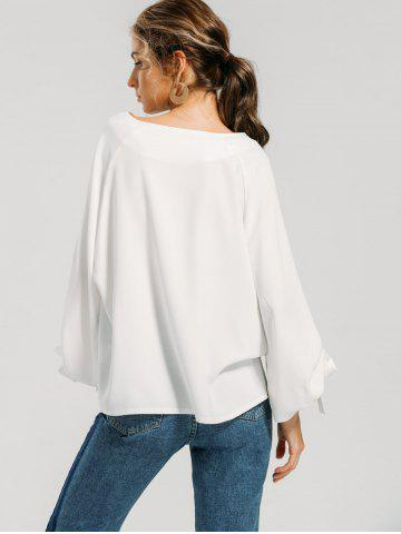 Bow Tie Sleeve Loose Blouse
