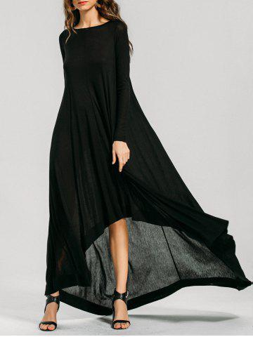 Discount High Low Long Sleeve Maxi Dress