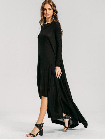 High Low Long Sleeve Maxi Dress