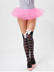 Tier Mesh Light Up Tutu Cosplay Jupe - Rose Clair TAILLE MOYENNE
