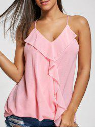 Ruffles Chiffon Wrap Top - ROSE PÂLE S