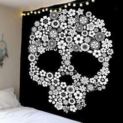 Home Decor Skull Flower Wall Hanging Tapestry