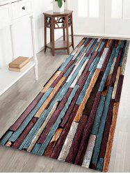 Brick Wall Pattern Anti-skid Water Absorption Area Rug -