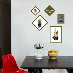 Botanical Removable Photo Frame Wall Art Sticker