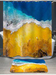 Gold Coast Print Shower Curtain and Bath Rug