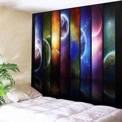 Microfiber Wall Hanging Planet Printed Tapestry