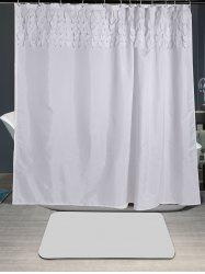 Waterproof Leaf Fringed Embellished Shower Curtain