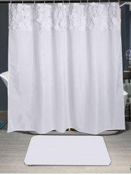 Waterproof Round Fringed Embellished Shower Curtain
