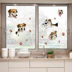 Puppy Dog Window Door Decor Wall Sticker