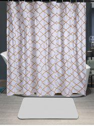 Waterproof Plaid Laciness Shower Curtain