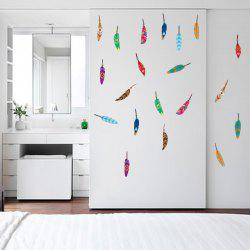 Colorful Feather Vinyl Kids Wall Sticker