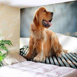Wall Hanging Golden Retriever Printed Tapestry