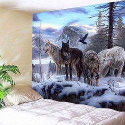 Wall Hangings Wolf Animals Printed Tapestry