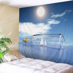 Ocean Drift Bottle Print Tapestry Wall Hanging Art Decoration