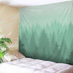 Fog Forest Print Tapestry Wall Hanging Art Decoration
