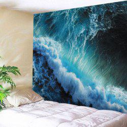 Ocean Wave Print Tapestry Wall Hanging Art Decoration