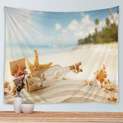 Beach Drift Bottle Print Tapestry Wall Hanging Art Decoration