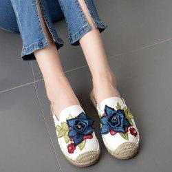 Applique Espadrilles Stitching Slippers