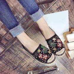 Fancy Coloured Diamond Espadrilles Flat Shoes